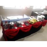 buffet de crepe para chá de bebê preço Vila Alexandria
